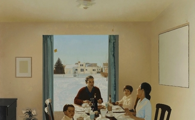 (detail) Jack Chambers, Lunch, unfinished, begun 1970 (Courtesy of the Estate of