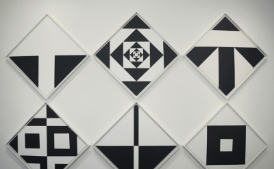 Installation view: Ward Jackson: Black and White Diamonds 1960s at Minus Space,
