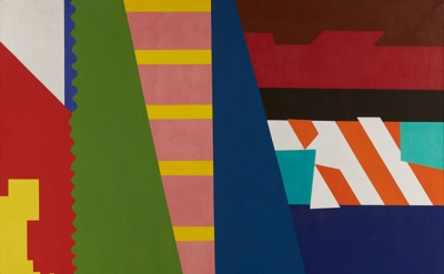 Shirley Jaffe, The First Diagonal, 1973, oil on canvas, 72.5 x 88.5inches (court