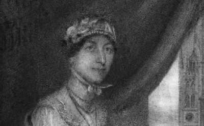 (detail) Portrait of Jane Austen, 1815
