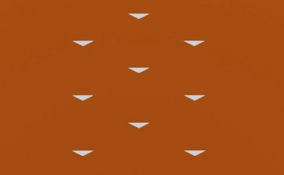 (detail) Tess Jaray, Migration Wide Orange, 2013, 65 x 130 cm (courtesy of The P