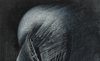 (detail) Jay DeFeo, Reflections of Africa, 1987, graphite, oil pastel on paper,