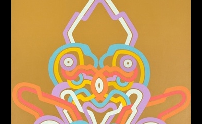 (detail) Jay Gaskill, Loglo Blazon, 2011, acrylic on canvas, 108 x 80 inches