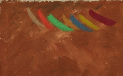 (detail) Jack Bush, Flute Passage, 1975, Acrylic polymer water-based on canvas,