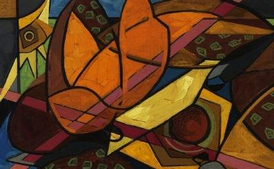 Painting by Jehangir Sabavala (1922 - 2011)