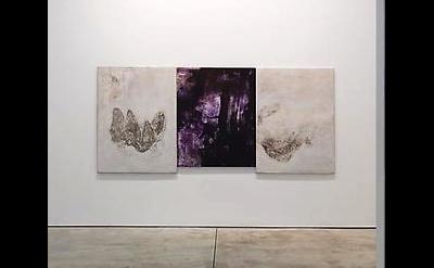 Installation View, Bill Jensen, The Trinity, 2010-11, Oil on linen, triptych, 53