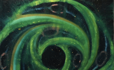 Elisa Jensen, Cosmic Egg, Fair Wheel, 2018, 36 x 36 inches (courtesy of the artist)