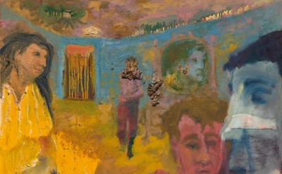 (detail) Jess, Feignting Spell, 1954, oil on canvas, 42 x 48 inches (collection