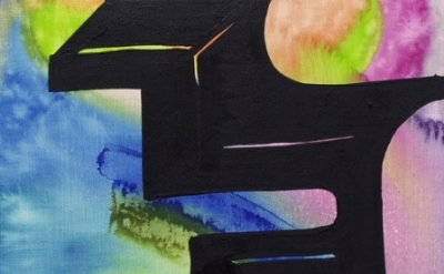 (detail) Joanne Greenbaum, Untitled, 2011, oil, acrylic, mixed media on linen, 1