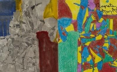 (detail) Jasper Johns, Study for Regrets, 2012 (© Jasper Johns/Licensed by VAGA,