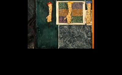 (detail) Jasper Johns, Perilous Night, 1982, Encaustic paint, 5′ 7″ x 8′ 0″ x 0′