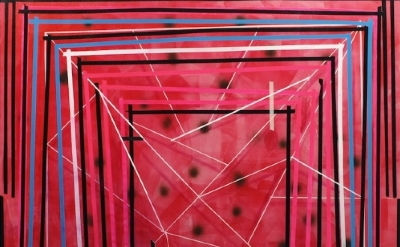 Kelley Johnson, Untitled 10, 2011, acrylic on canvas 74 x 74 inches (courtesy of