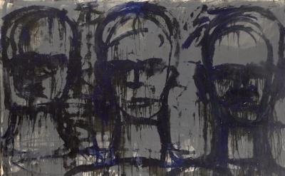(detail) Lester Johnson, Three Transparent Heads, 1961 (courtesy of Steven Harve