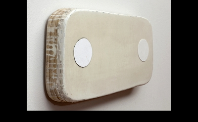 Otis Jones, 2 Circles / Everything White (angle view) 2013 (courtesy of the arti
