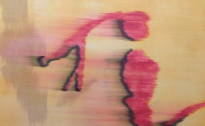(detail) Hildur Ásgeirsdóttir Jónsson, Wind #3, 2013, 46 inches x 17 feet silk,