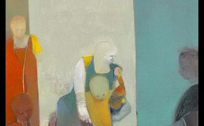 (detail) Deborah Kahn, Floating, oil on canvas, 38 x 36 inches, 2014 (courtesy o