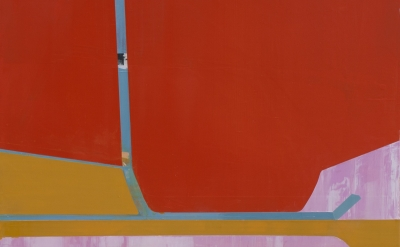 (detail) Suzanne Kammin, Rocket's Blast, 2013, oil on panel, 40 x 40 inches (cou