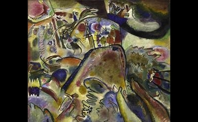 Vasily Kandinsky, Small Pleasures, 1913, oil on canvas, Solomon R. Guggenheim Mu