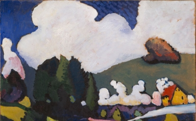 Vasily Kandinsky, Landscape near Murnau with Locomotive, 1909 (Guggenheim Museum