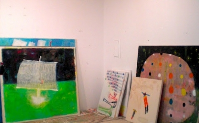 Studio of painter Katherine Bradford (photo: Maria Calandra)