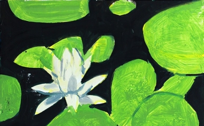 Alex Katz, Homage to Monet 5, 2009, oil on board, 9 x 12 in. (22.9 x 30.5cm) Cou