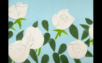 (detail) Alex Katz, White Roses 9, 2012 (photo by Paul Takeuchi. © Alex Katz/Lic