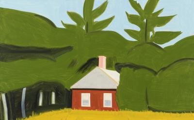Alex Katz, Red House 2, 2013 (courtesy of Gavin Brown's Enterprise)
