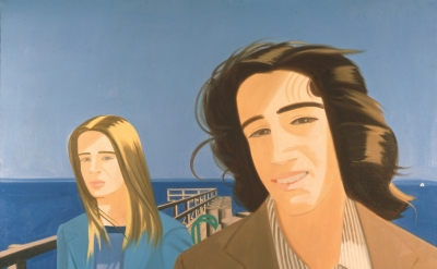 Alex Katz, Islesboro Ferry Slip, 1975, oil on linen, 78 x 84 inches (Art © Alex Katz/Licensed by VAGA, New York, NY)