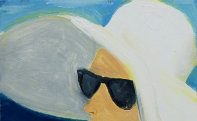 Alex Katz, Elizabeth, 2012, oil on board, 9 x 12 inches (courtesy of Peter Blum