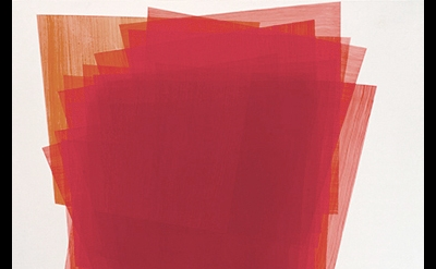 (detail) Betty Kaufman, Untitled, 2013, acrylic on wood panel, 16 x 16 inches (c