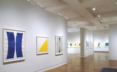 Installation view of Ellsworth Kelly/Prints at the Portland Art Museum (photos J