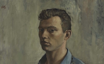 (detail) Ellsworth Kelly, Self-portrait with Thorn, 1947 (San Francisco Museum o