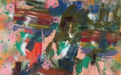 (detail) Todd Kelly, Untitled Abstract Painting 17, 2012, oil, spray paint on ca