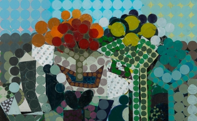 Ken Kewley, Landscape V, acrylic on board, 18 x 24 inches (courtesy of Gross-McL