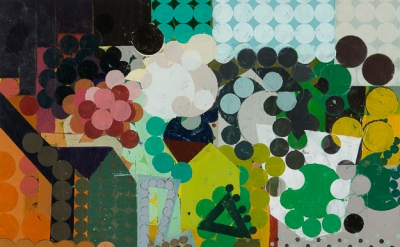 Ken Kewley, Landscape IV, acrylic on board, 18 x 24 inches  (courtesy of Gross M