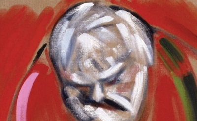 (detail) RB Kitaj, Self-Portrait (after Masaccio), 2005, oil on canvas, 61 x 61