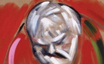 (detail) RB Kitaj, Self-Portrait (after Masaccio), 2005, oil on canvas, 61 x 61