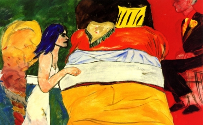 R.B. Kitaj, I Married an Angel, 1990, oil on canvas, 48 x 47 3/4 inches (courtesy Marlborough Fine Art, London)