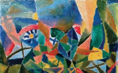 Paul Klee, Flower Bed (Blumenbeet), 1913, oil on cardboard, 11 1/8 × 13 1/4 inch