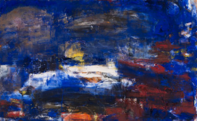 (detail) Iona Kleinhaut, Ariverderci Otranto, 2013, oil on canvas, 46 x 40 inche