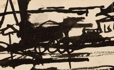 (detail) Franz Kline, Untitled-Locomotive, (© 2013 The Franz Kline Estate / Arti
