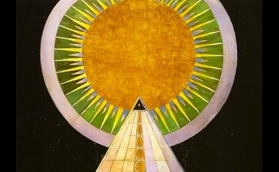 (detail) Hilma af Klint, Untitled #1, 1915, oil and gold on canvas (private coll