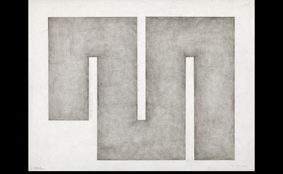 Julije Knifer, Untitled, 1977, pencil on paper (courtesy of Mitchell-Innes & Nas