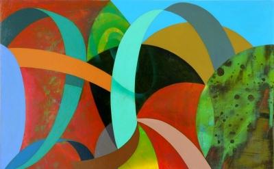 (detail) Kim Krause, Eleusinian Mysteries S.F. #5, 2012, acrylic on panel, 21 x