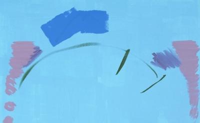 (detail) Michael Krebber, MP-KREBM-00071, acrylic on linen, 105 x 85 cm, 2013 (c