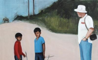 Matthew Krishanu, Safari, oil and acrylic on canvas, 50 x 60 cm, 2013 (courtesy