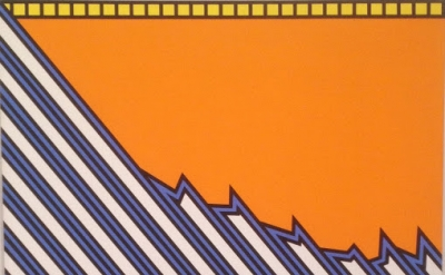 (detail) Nicholas Krushenick, Greensboro, 1975, acrylic on canvas (Collection of