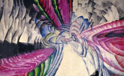 (detail) František Kupka, Localization of Graphic Motifs II, 1912–13, oil on can