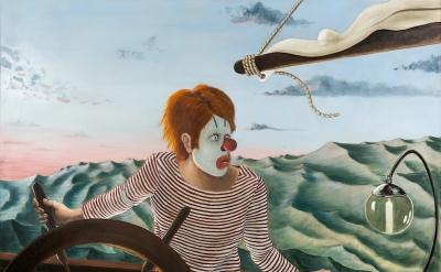 Sean Landers, Around the World Alone (Boy Skipper – Dawn), 2011 (courtesy of Sha