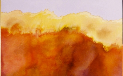 Ronnie Landfield, For John Keats, 1978, acrylic on canvas, 81 x 93 inches (court